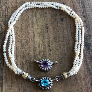 Lagos Pearl Necklace with Two enhancers